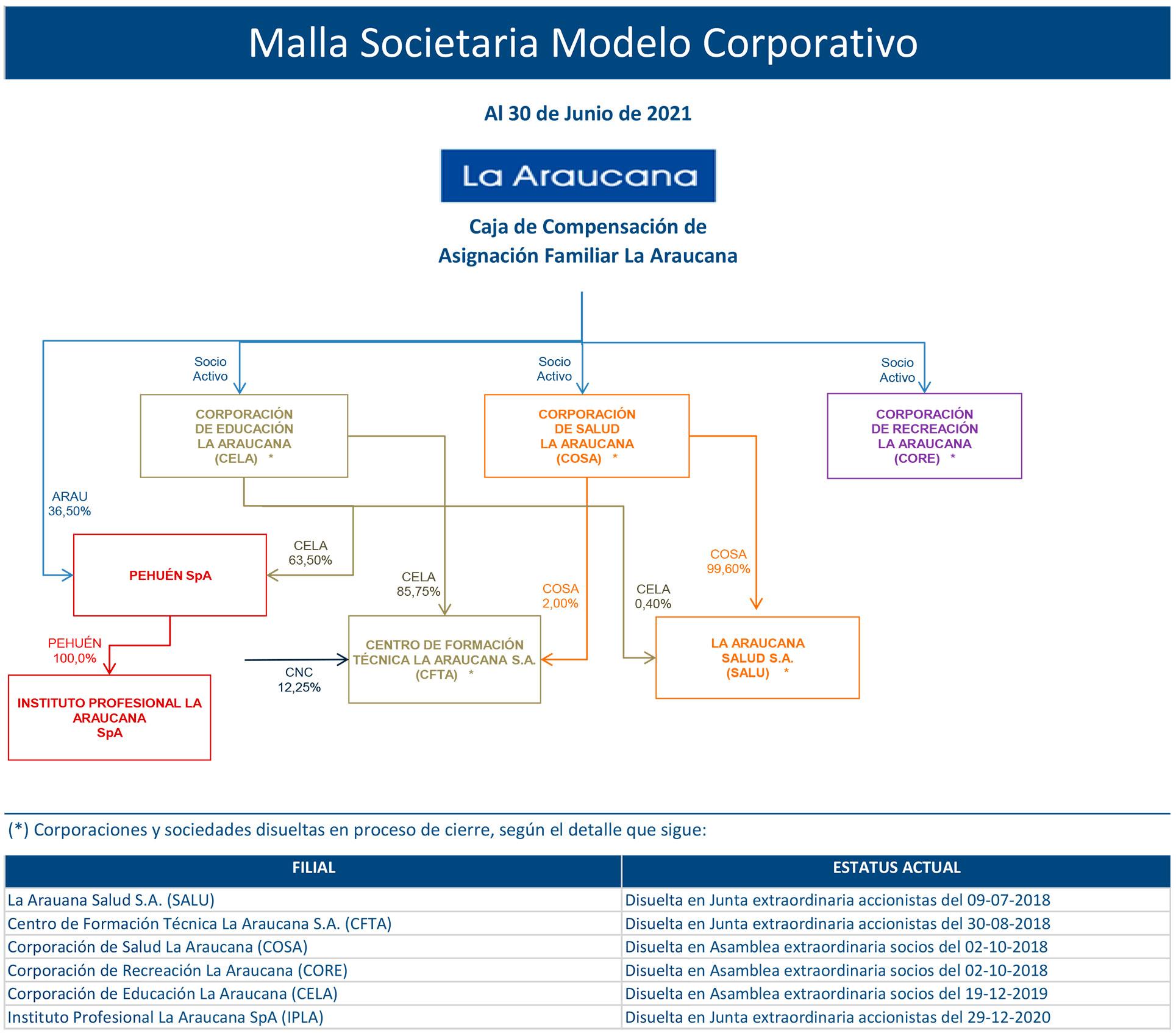 Imagen Malla Societaria Modelo Corporativo